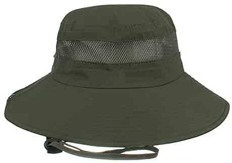 333af86e Loritta Summer Fishing Hats with Wide Brim Outdoor Sun Protection Safari Hat  for Men Women