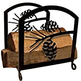 18 Inch Pinecone Wood Rack