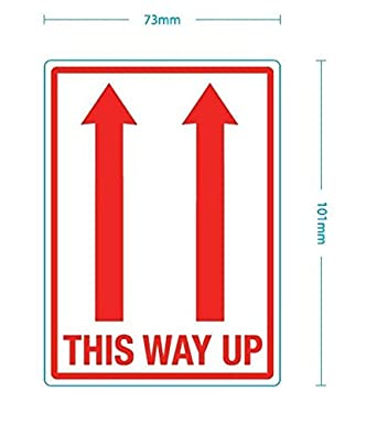 THIS WAY UP LABELS - 500 101 x 73mm labels (1 Roll) OUB4