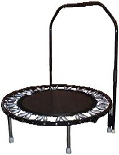 Needak Trampoline Mini (Needak Rebounder - Non-Folding Soft Bounce Traditional Black Edition Trampoline Plus Stabilizing Bar-R02/R05)