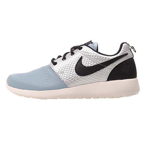 - Nike WMNS Roshe ONE LX Womens Fashion-Sneakers 881202-002_8.5 - Metallic Silver/Black-MICA Blue-Ivory