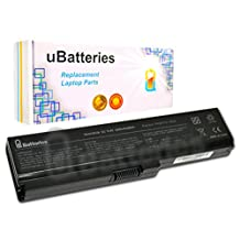 UBatteries Laptop Battery Toshiba Satellite C600 C600D C605 C630 C640 C640D C645 C645D C650 C650D C655 C655D C660 C670 C675 C675D L630 L635 L640 L640D L645 L645D L650 L655 L670 L675 - 5200mAh, 6 Cell