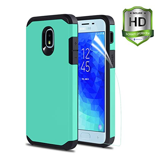 iCoold Case for Samsung Galaxy J3 2018,J3 Star Case,J3 AchieveCase,J3 V 3rd Gen/J3 Orbit/J3 Express Prime 3/Amp Prime 3/Sol 3 Case, Soft TPU W/[Screen Protector] Ultra-Thin Slim Phone Case,Mint