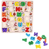 Baby Kids Wooden Learning Letter Educational Toys PuzzleChildren Early Learning 3D Shapes wood Jigsaw Puzzles