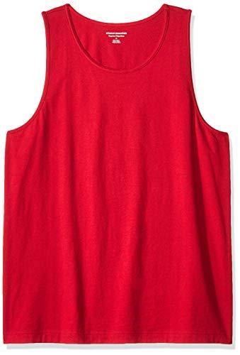 Amazon Essentials Men's Regular-Fit Solid Tank Top, Red, X-Large