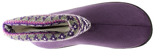 ISOTONER Womens Fair Isles Knit Beckett Boot Purple Ink By2aRS