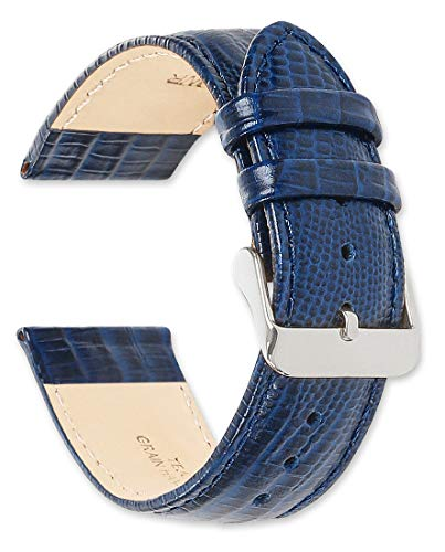 deBeer Leather Watch Strap - Teju Lizard Grain - Navy 20mm Watch Band reviews