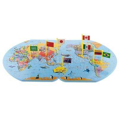 Amazon wooden world map flag matching puzzle geography wooden world map flag matching puzzle geography educational toy w 36 flags gumiabroncs Choice Image
