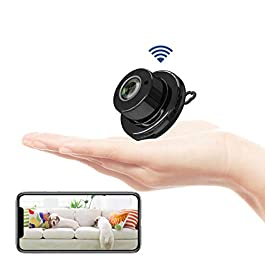 Fivota Mini Camera, WiFi Home Security Hidden Camera, Nanny Camcorder with 2 Way Audio Motion Detection Night Vision…