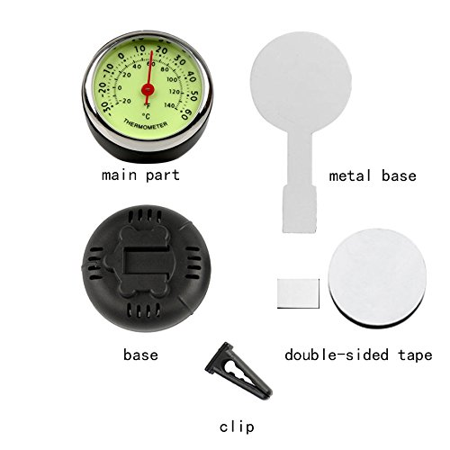 idain Car Dashboard Thermometer - Mini Vehicle Thermometer Decoration Air Vent Cilp by idain (Image #2)