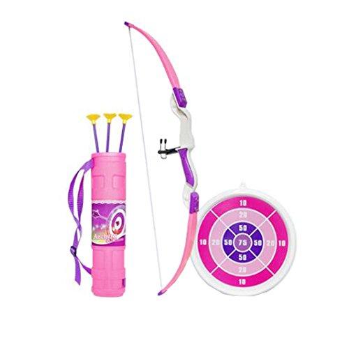 Juego de tiro con arco y flecha con arco para niños con juego divertido para jardín al aire libre Target, A2