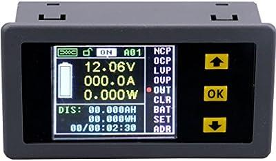Yeeco Multifunction Digital LCD Multimeter DC 0-120V 0-100A Wireless Voltmeter/ Ammeter/ Watt Meter/ Capacity/ Electricity Meter/ Coulomb Meter Charge-Discharge Battery Tester