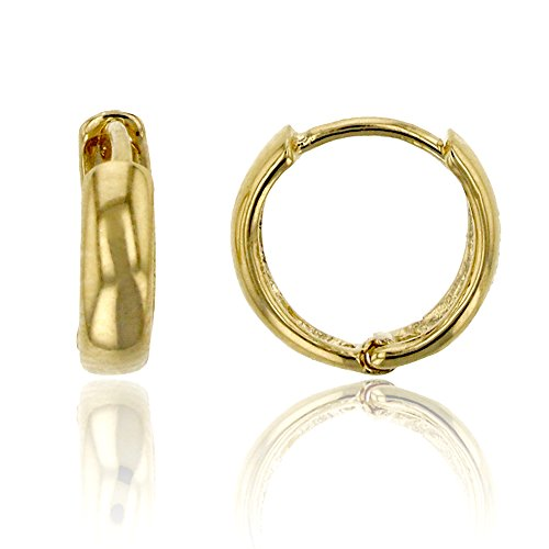 14K Yellow Gold High Polished 2.40x8.00mm Huggie Earring ()