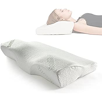 sleep memory foam contour u0026 ergonomic design for neck u0026 washable fabric bamboo size bed
