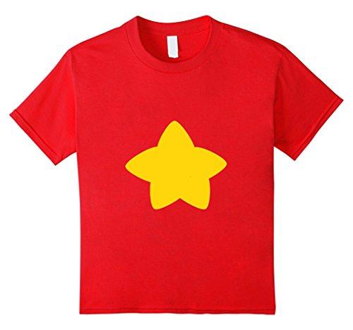 Steven Universe Halloween Costumes (Kids Premium Cosplay Universe Star T shirt HV 8 Red)