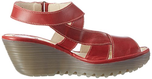 FLY Compensées 002 London Red Femme Rouge Sandales Yona737 rWqxrg8wSU