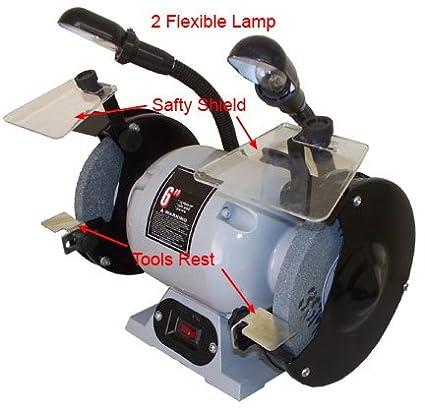 Terrific 1 2 Hp Ball Bearing 6 Dual Wheel Grinder Flexible Lamp 3550 Ibusinesslaw Wood Chair Design Ideas Ibusinesslaworg