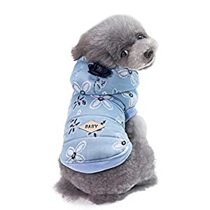 Morbuy Ropa de Perros Gatos, Chaqueta Abrigo Cálido Suéter de Algodón de Invierno Otoño Suave