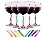 Wine Glass Charms Set of 8 Silicone Drink Markers for Cocktails, Martinis, Champagne Flutes and More by Simply Charmed