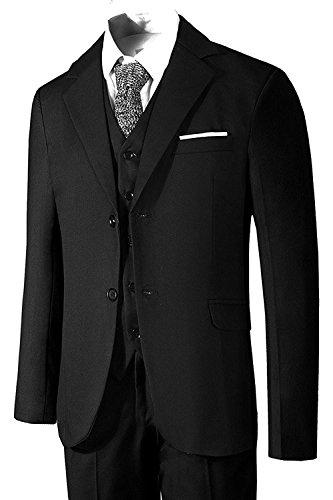 Hanayome Men's 3 Pc Grey Business Suit Formal Tuxedo Casucal Separate Pant Set 2017 (Black,48)