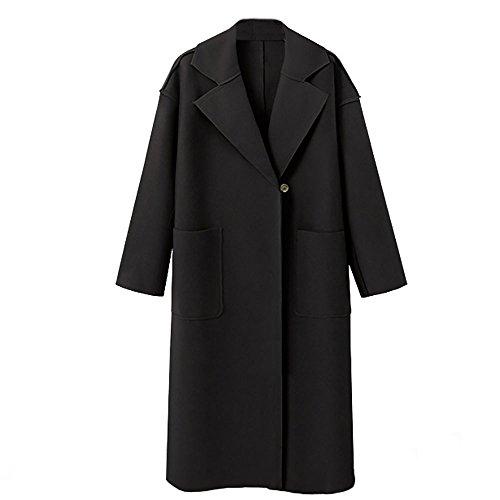 - POTO Wool Coats for Women,Fashion Ladies Winter Lapel Woollen Jacket Coat Cardigan Trench Coat Overcoat Outwear