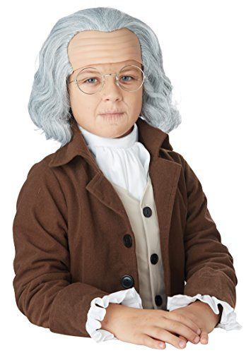 California Costumes Benjamin Franklin Wig Child Costume, Acc