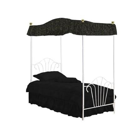 Image Unavailable  sc 1 st  Amazon.com & Amazon.com: The Furniture Cove Twin Size Fantasy Eyelet Black Canopy ...