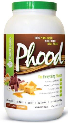 À base de plantes de remplacement de repas complet sans gluten, sans produits laitiers, sans soja, sans animaux, Hypoallergenic- Phood Poids net 31,8 oz Chocolat Caramel