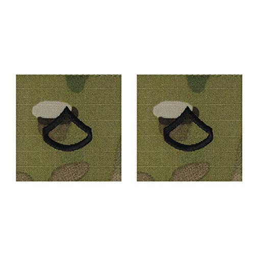 US Army Sew-On OCP Scorpion Rank For Cap Pair (Private FIrst ()