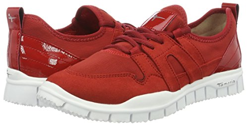 sangria 536 Women''s Low Sneakers Red top 23651 Tamaris RxqvwUS7