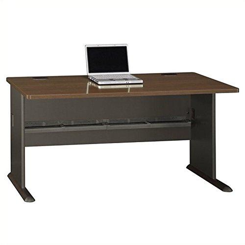Bush WC25560 - Series A Workstation Desk, 60w x 26-7/8d x 29-7/8h, Sienna Walnut/Bronze