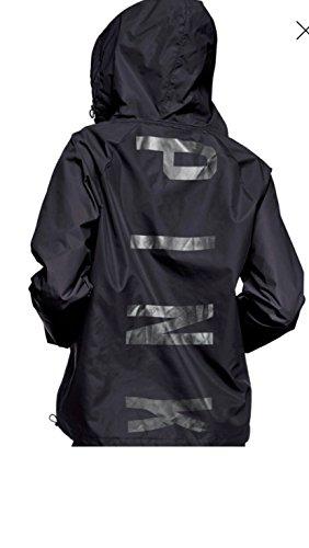 Victoria's Secret Pink Anorak Windbreaker Jacket Quarter Zip Hoodie Black ()