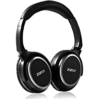 Over Ear Bluetooth Headphones With Microphone,ZZSY Wireless 4.1 Enhanced Bass Earphone, Folding Overhead and Lightweight Stereo Headset With Carrying Case (Black)