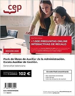 PACK LIBRO OPOSICION AUXILIAR ADMINISTRACION GENERALITAT: Amazon.es: SIN DETALLAR: Libros