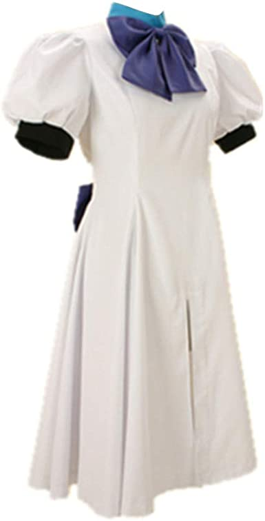 Details about  /Higurashi When They Cry Hou Ryugu Rena Cosplay Costume White Uniform Dress Hat