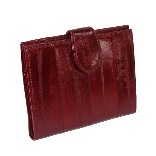 Eel Skin (MJ Masters Women's Eel Skin Credit Card Wallet, Burgundy)