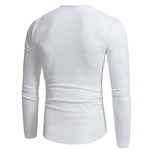 Elegantes Blanco Cuello Ocasionales Jersey Primavera Color De Bax6w