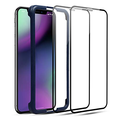 Screen Protector for iPhone Xs iPhone X - LBRNO 2 Pack Tempered Glass Screen Protector for iPhone Xs iPhone X, Easy Installation, Bubble-Free, Full Screen Protection, 5.8-inch, 2018