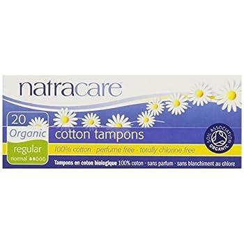 Natracare Tampons Non-Applicator Regular 20 Ct, Set of 4