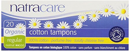 Natracare Tampons Non-Applicator Regular 20 Ct, Set of 4
