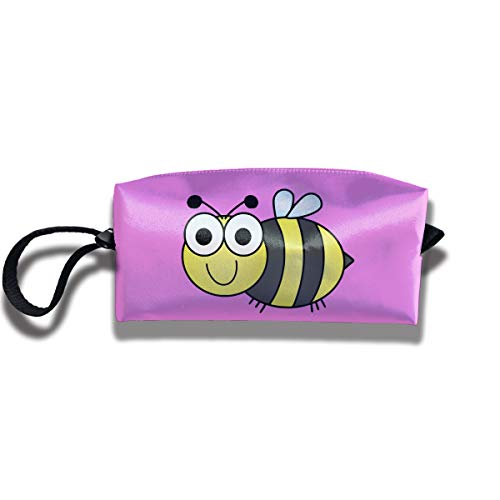 Cosmetic Bags With Zipper Makeup Bag Bumblebee Middle Wallet Hangbag Wristlet Holder -