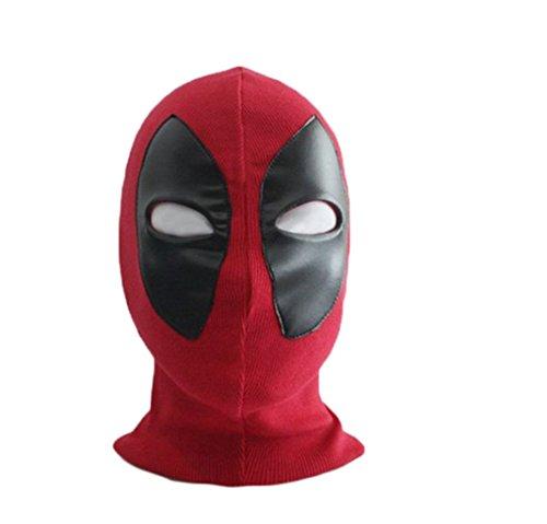sirwolf Deadpool Cosplay Mask, Belts and Sword (Latex Deadpool Costume)