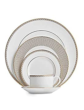 Waterford Lismore Diamond Gold 5 Piece Place Setting