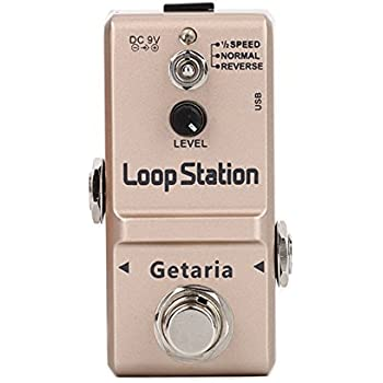 Getaria GE-MT-LN-332S Loop Station Looper Effects Pedal Unlimited Overdubs 10 Minutes of Looping, 1/2 time, and Reverse