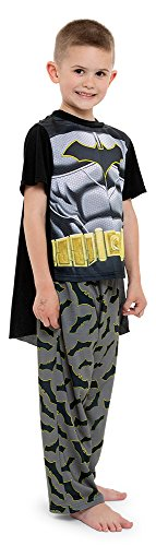 (DC Comics Boys' Toddler Batman 2-Piece Uniform Set with Cape, Night Chrome)