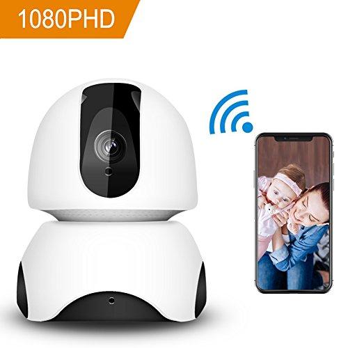 Cámara de seguridad inalámbrica HD Cámara de domo de cámara IP de 360 grados WiFi Cámara de niñera de 1080P Sistema de...