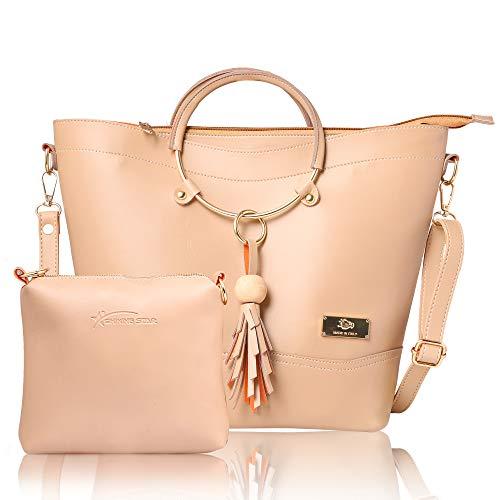 Shining Star Women's Handbag and Shoulder Bag with Sling Bag Combo ST-001-CLUTCH