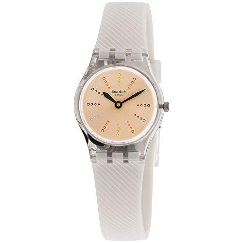 Swatch Originals Quadratten Pink Dial Silicone Strap Ladies Watch LK372