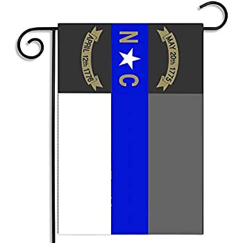 Brotherhood North Carolina Thin Blue Line Law Enforcement State Subdued  Garden Flag b79d1638f21