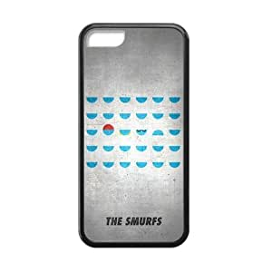 [Accessory] iPhone 5 5s Case, [The Smurfs] iPhone 5 5s Case Custom Durable Case Cover for iPhone 5 5s5 5s TPU case (Laser Technology)